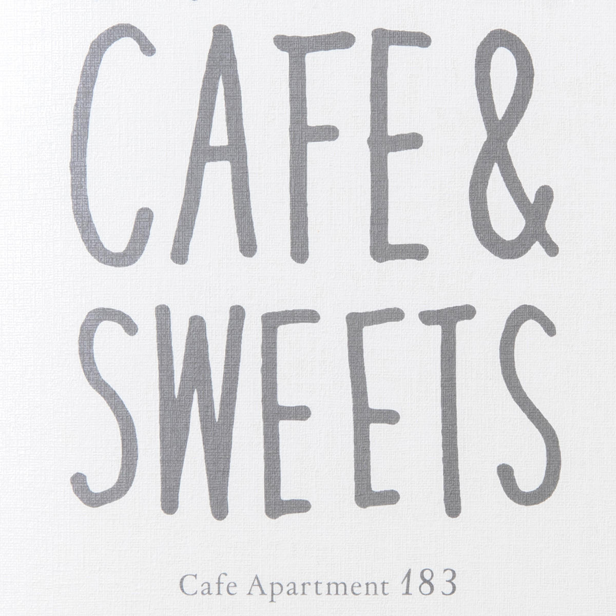 Cafe Apartment183/ メニューデザイン